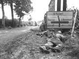 WWII U.S. Ardennes Campaign Photographic Print by  Anonymous