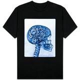 X-ray of skull with gears T-Shirts