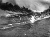 WWII USS Franklin Attack Photographic Print