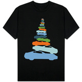 Colorful Car Pile Up T-shirts