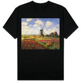 Tulip Fields with the Rijnsburg Windmill Shirt