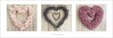 Howard Shooter-Hearts Triptych Kunstdrucke