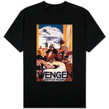 Wengen, Switzerland - The Downhill Club Promotional Poster T-Shirt