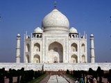 India Taj Mahal Security Photographic Print by Jeff Robbins