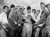 WWII Dimaggio U.S. Troops Photographic Print by  Anonymous