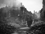 WWII Coventry Bombed Photographic Print by  Anonymous
