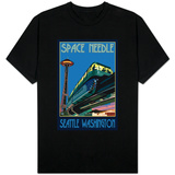 Space Needle and Monorail, Seattle, Washington T-Shirt