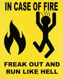 In Case of Fire Plakietka emaliowana