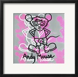 Andy Mouse 1985 Framed Giclee Print by Keith Haring