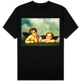 Painting of Cherubim After a Detail of Sistine Madonna Shirt
