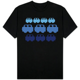 Blue Cars T-shirts