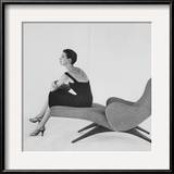 Vogue - April 1956 Framed Photographic Print by Karen Radkai