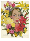 Woman with Flowers, Coby Whitmore, USA Prints