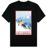 Downhhill Snow Skier, Lake Tahoe, California T-Shirt