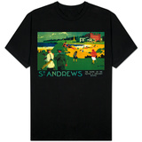 St. Andrews Vintage Poster - Europe T-shirts