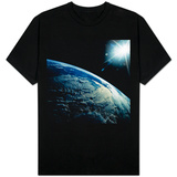 Earth Seen from Space Shuttle Discovery T-shirts