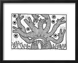 Untitled, 1982 Framed Giclee Print by Keith Haring