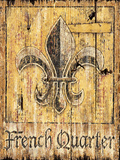 French Quarter Vintage Wood Sign