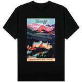 Banff, Alberta, Canada - Overview of the Banff Springs Hotel Poster T-shirts