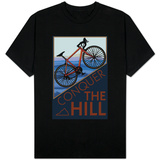 Conquer the Hill - Mountain Bike T-shirts