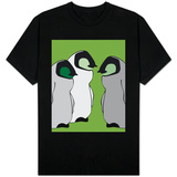 Baby Penguins in Green T-shirts