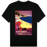 Antibes Vintage Poster - Europe Skjorter
