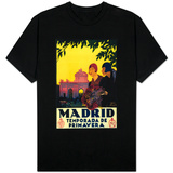 Madrid, Spain - Madrid in Springtime Travel Promotional Poster T-shirts