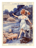 La Vie Parisienne, Maurice Milliere, 1919, France Print