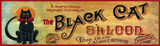 Black Cat Vintage Wood Sign