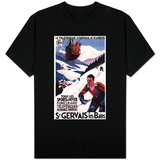 St. Gervais-Les-Bains, France - SNCF Railway Cable Car Promo Poster T-shirts