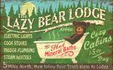 Lazy Bear Vintage Wood Sign
