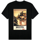 Bristol, England - Clifton Suspension Bridge and Boats British Rail Poster T-shirts
