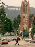 Panneau d'Hollywood Photographie par Mark J. Terrill