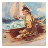 Woman in Boat, 1939, UK Giclee Print