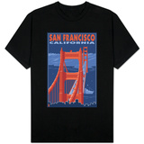 San Francisco, California - Golden Gate Bridge T-shirts
