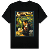 Thurston the Great Magician Holding Skull Magic Poster T-skjorter