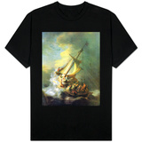 Christ In The Storm On The Sea Of Galilee T-skjorter