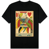 Jack of Hearts Card T-shirts