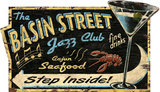 Jazz Club Vintage Wood Sign