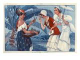 La Vie Parisienne, Maurice Milliere, France Giclee Print