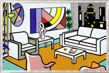 Interior with Skyline Art by Roy Lichtenstein