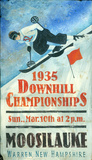 Downhill Skiing Vintage Wood Sign