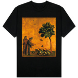 St. Francis of Assisi Preaching to the Birds T-shirts