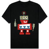 Red Robot with Smile Shirt