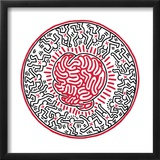 Untitled, 1985 Framed Giclee Print by Keith Haring
