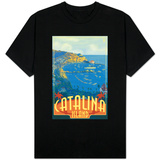 Catalina Island, California, Travel Scene Shirt