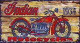 Indian 1934 Vintage Wood Sign