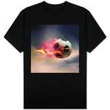 Flaming Soccer Ball T-Shirts
