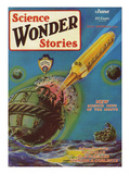 Science Wonder Stories, 1929, USA Giclee Print