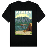 Bush Plane and Fishing, Alaska Shirts